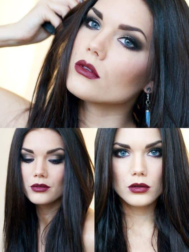 Foto mostrando modelo maquiada para njoite