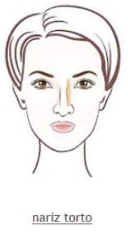 Foto mostrando como maquiar o nariz torto