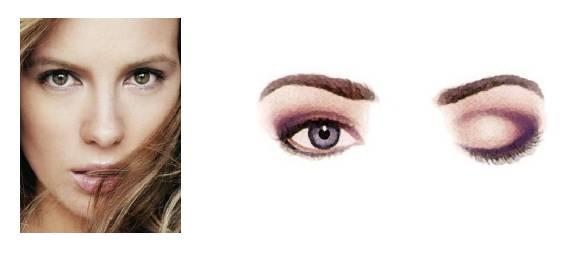 Foto mostrando um rosto com olho padrão