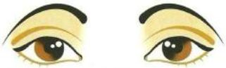 Figura mostrando sobrancelhas caídas