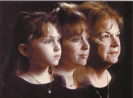 Foto mostrando o processo de envelhecimento da pele