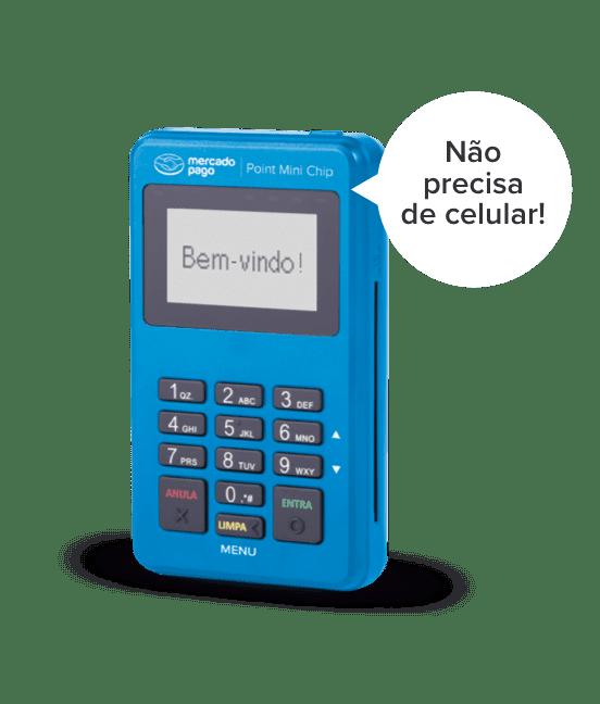 Maquininha de Cartão Point Mini Chip Mercado Pago