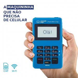 Maquininha de Cartão Point Mini Chip Mercado Pago