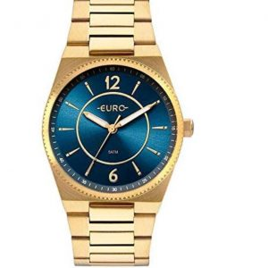 Relógio Euro Feminino Casual Dourado
