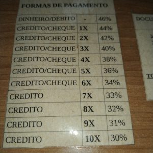 tabela de desconto padronizados praticados pela Rommanel conforme a forma de pagamento dos revendedores