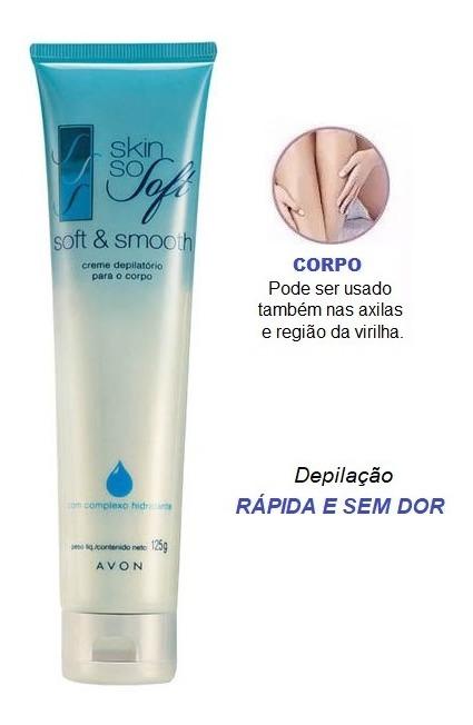 Creme Depilatório Para o Corpo Avon Skin So Soft com Complexo Hidratante 125 g