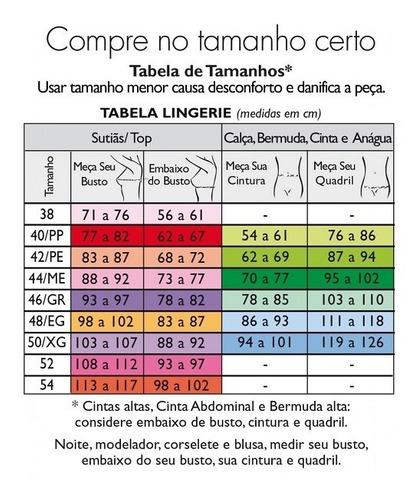 Tabela de medidas DeMillus